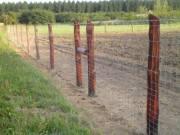 vadháló drótfonat kerítésdrót fa oszlop vadriasztó huzal szögesdrót