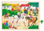 Fa puzzle - Lovasbemutató fotó