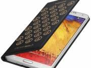 Samsung Galaxy Note 3 Moschino Wallet Flip Cover Black/Gold fotó