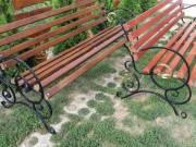 Kovácsolt  vas lább kerti padokhoz