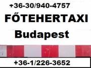 Fő Tehertaxi, költöztetők bútorszállító tehertaxi Budapest, belföld 0630 940 4757