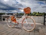 Eladó egyedi építésű női kerékpár. Vintage stilusú. VINTAGEBRINGA