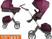 Stokke lila babakocsi hordozoval autosulessel teljes szett kituno allapotban