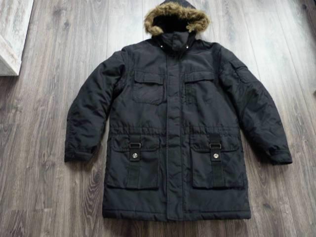 Springfield férfi fekete kapucnis téli kabát L-es - Veszprém 699c30e4f0
