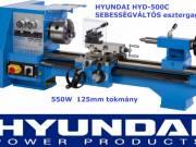 Új Hyundai Hyd 500-C Sebességváltós esztergagép 550W 125mm tokmány fotó