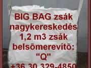 Big bag zsák használt és új eladó 06.30.329-4850 Nagy raktárkészlet, azonnal átvehető.