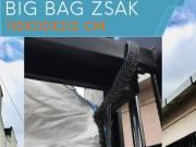 Big bag zsák +36205360088 méret 110 x 110 x 212 cm Q laminált 6:1 big bag zsák becső-kicső
