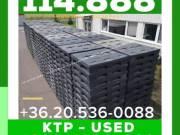 114.888 SYSTEM 2000 +36.20.536-0088 KTP Box használt összecsukható kartonplast -műanyag láda  BigBox