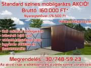 Bomstal Garázs: Acélváz szerkezetű mobil garázs trapézlemez borítás