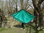 Trekking FÜGGŐÁGY double size eladó 320x 200cm, zöld