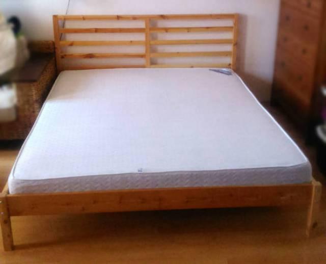 IKEA Tarva 200x160 cm franciaágy Materasso matraccal eladó ...