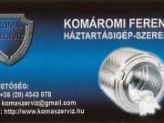 Mosógép szerelő 06 20 4343 078 Érd, Törökbálint, Budaörs, - komaszerviz -