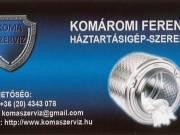 Mosógép szerelő Budaörs 20 4343 078-komaszerviz-