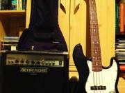 East Jazz Bass basszusgitár eladó kiegészítőkkel