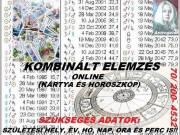 ONLINE Kártyajóslás, Horoszkópelemzés kombináltan is