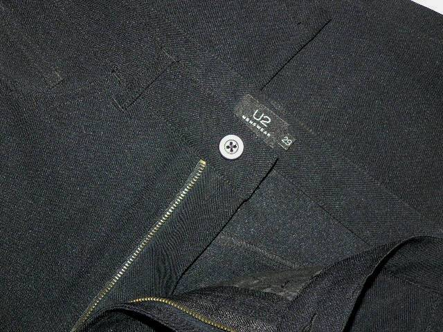 U2 fekete vékony csinos nadrág 29