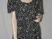 Indonéz fekete-fehér mintás hand made nyári ruha M
