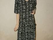 66a6c2f11c Indonéz fekete-fehér mintás hand made nyári ruha M - Budapest I ...