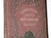 Langenscheidts Taschenwörterbucher Englisch Deutsch / antik gót betüs könyv