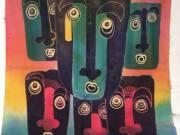 Indonéz kézzel festett egyedi batik kép hand made 96×73cm