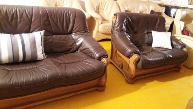 Valódi bőr ülőgarnitúra 3 2 1 kanapé Holland bútor eladó bútor
