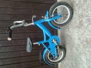 12,5-es kerekű, kék, mindenhol csapágyazott gyermekkerékpár eladó