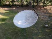 Parabola antenna, fali tartóval 90cm