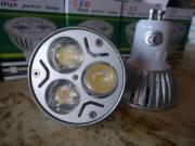 10 db 3W-os LED spot GU10-es foglalattal (~230V-os)