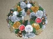 Karácsonyi adventi asztaldísz