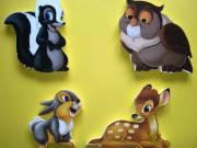 Bambi fali dekoráció, 4 db-os