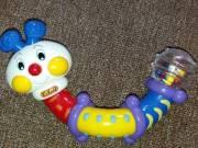 Ks Kids tekerődő, tekerhető, csavarható kukac, hernyó csörgő