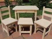 Gyerekasztal gyerekszék gyerek kettő szék egy hokedli Óvodás méret fiókos asztal