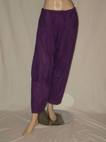 1634db2444 KHADI egyedi fazonú lila vékony vászon szabadidő nadrág XXL ...