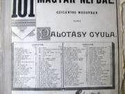 Magyar dalok, népdalok kotta.