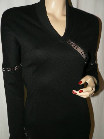 cde02167b0 SOCIETA Fashion fekete színű strasszal díszített alkalmi ruha M ...