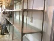 Salgó polc 100x60 cm mély újszerű állapotban,sorolva 13.500,-Ft/egység +oszlop 1.500,-Ft/db,tálca