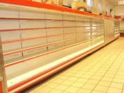 Fali hűtő 3*3,75 méteres,csemege pult 2*3,75 m.,Fém polc rendszer 100 méter raktárról  eladó