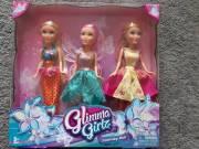 ZURU Glimma Girlz hercegnő babakészlet (3 db) – új, bontatlan eladó