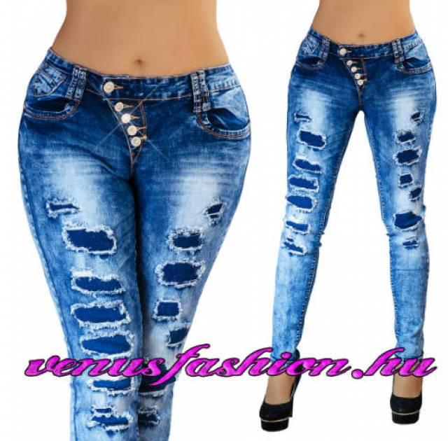 4efca78800 Új, divatos, szexi szaggatott női farmer nadrág XS, S, M, L, XL méretekben  eladó