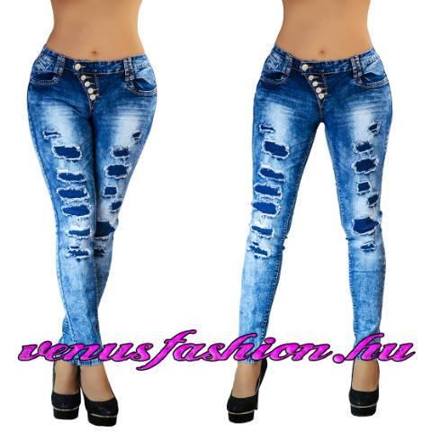 16336f4523 Új, divatos, szexi szaggatott női farmer nadrág XS, S, M, L, XL ...