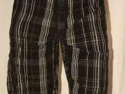 NIKE fekete fehér kockás férfi sort short rövidnadrág XL