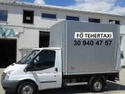 Fő Tehertaxi, teherfuvarozás, költöztetés kisteherautóval bútorszállító tehertaxi. 0630 940 4757