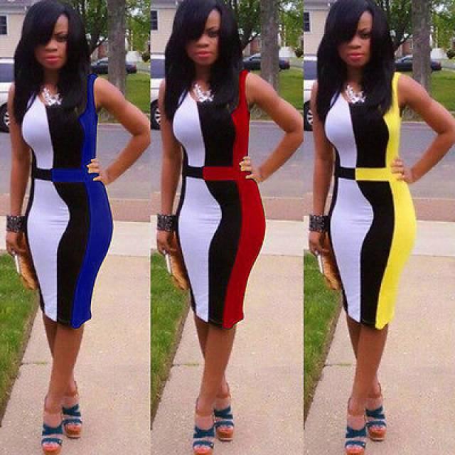 9889916c29 Női karcsusitott ujjatlan több színből állo nyári ruha 4 színbe ...
