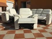 Olasz Natuzzi 5 relax marha bőr ülőgarnitúra ÚJ