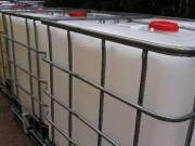 1000 l-es IBC tartály öntözésre, tápoldatnak vegyileg tisztítva, újszerű állapotban