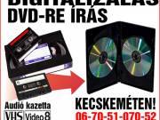 VIDEÓ ÉS AUDIÓ FELVÉTELEKRŐL DVD KÉSZÍTÉS KECSKEMÉTEN!