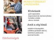 Operátor és targoncás munkalehetőség győri partnerünknél