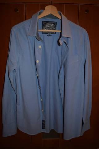 """54bff494b5 Teljesen új Superdry S&D Shirt """"M"""" kék férfi hosszúujjú ING ELADó ..."""