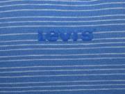 Levis: Női kék/ fehér csíkos spagettipántos felső (S) – sztreccs