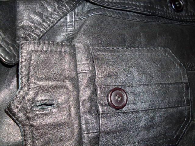 Kis méret ÚJ Valódi bőr kabát márkás C A nappa bőrkabát bőrdzseki ... 83557ef101